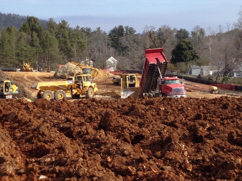 The grading phase of the project in Brevard is progressing.